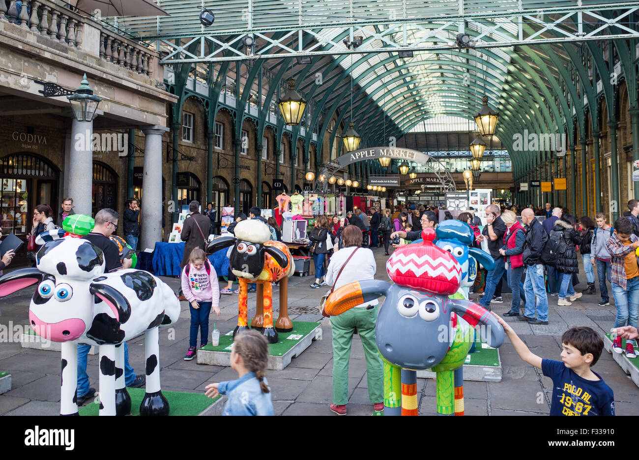 Shaun the Sheep in Covent Garden in London Britain - Stock Image