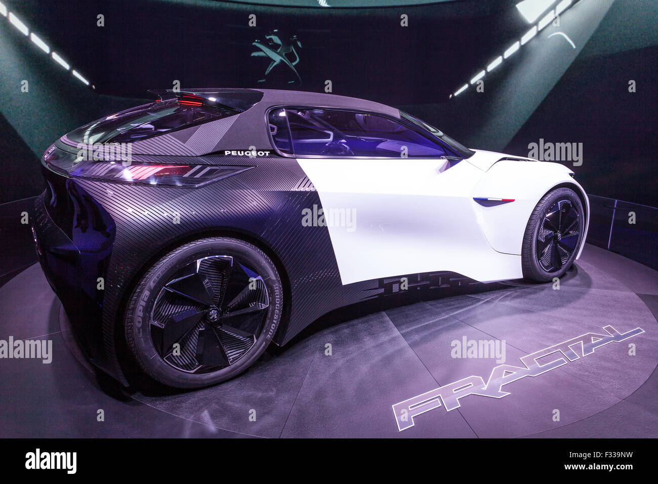 Peugeot Fractal Concept Car at the IAA 2015 - Stock Image