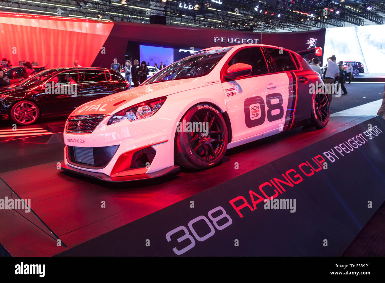 Peugeot 308 Racing Cup at the IAA 2015 - Stock Image