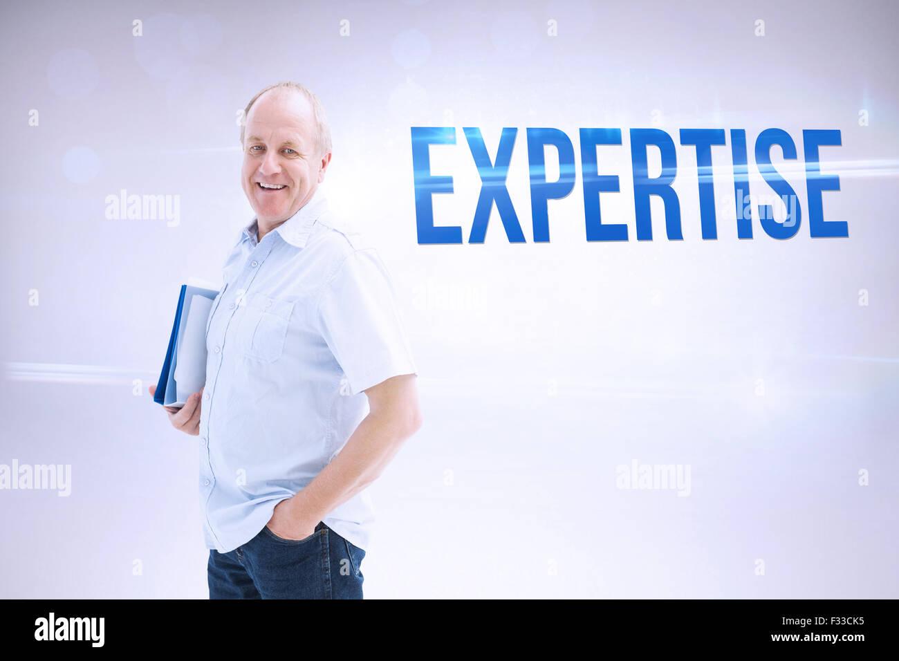 Expertise against grey background - Stock Image