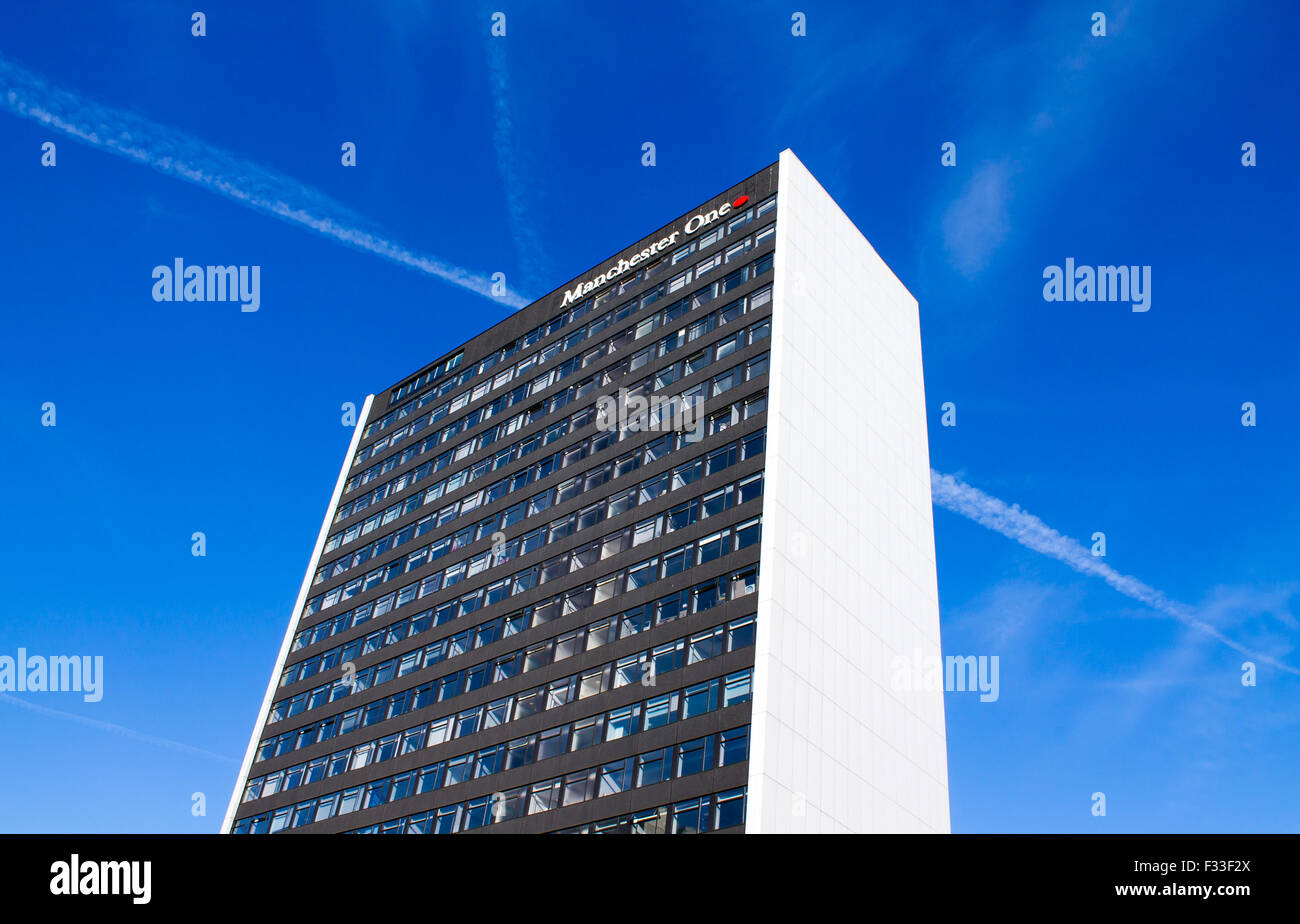 Manchester One Tower, formerly known as Portland Tower, a high-rise building in Portland Street, central Manchester. - Stock Image