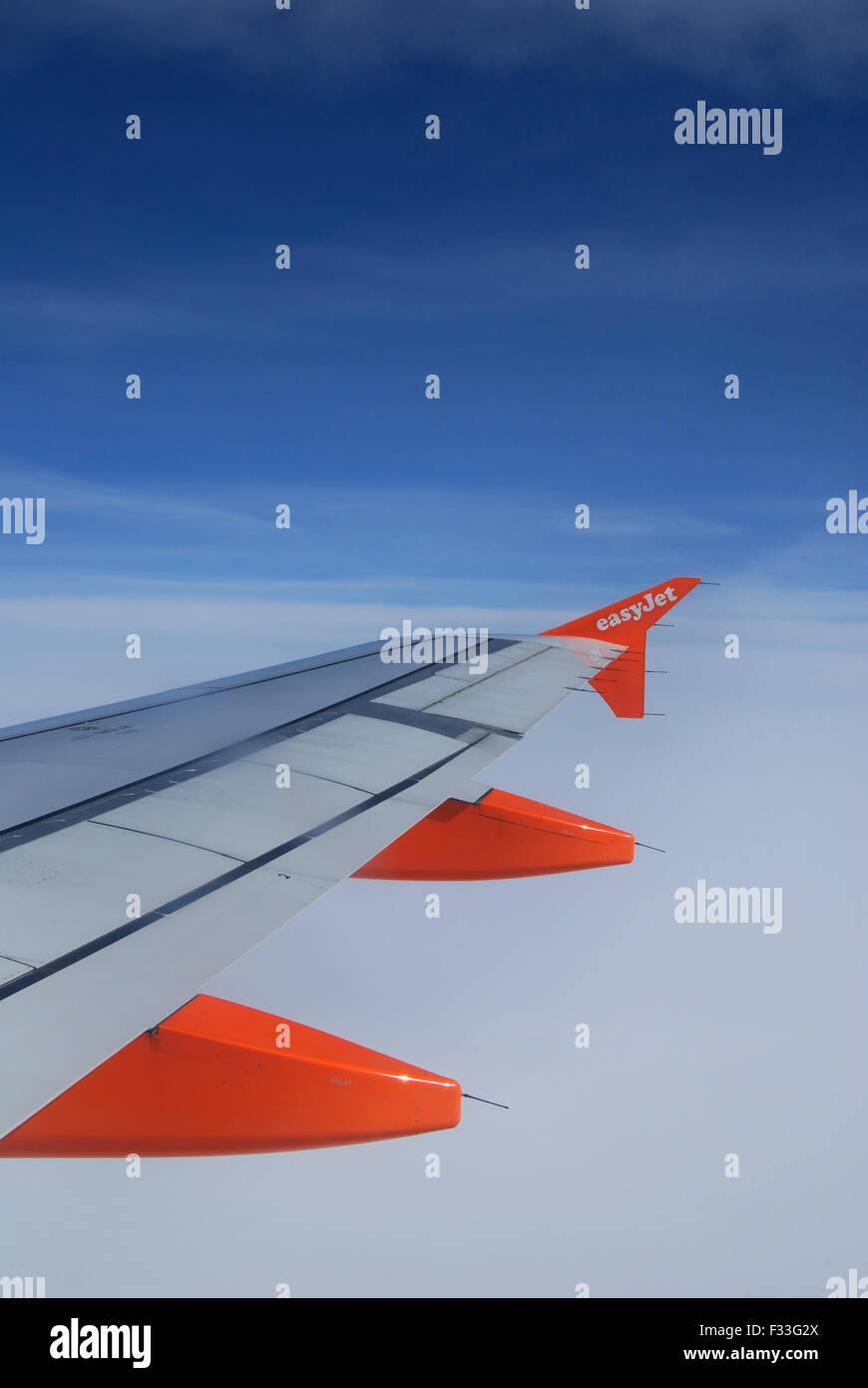 EasyJet Airbus plane in flight - Stock Image