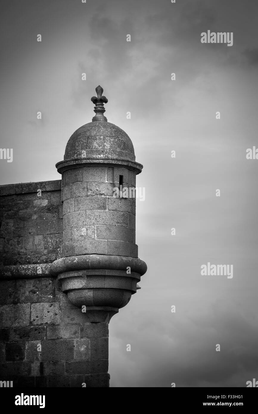 Part of a fort, old town of Saint Malo, Brittany, France, Europe. - Stock Image