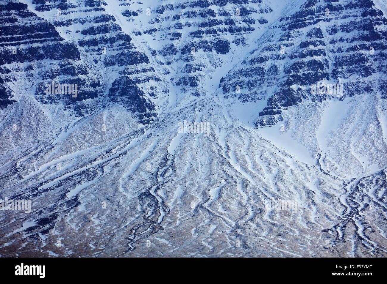 snowclad Hafursfell, Snaefellsness Peninsula, Iceland - Stock Image
