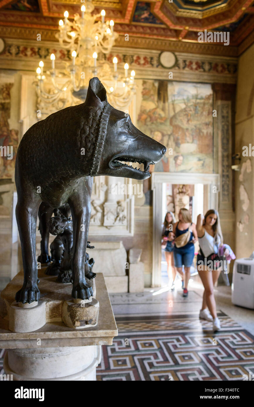 Rome. Italy. Capitoline Museum. She-Wolf. - Stock Image