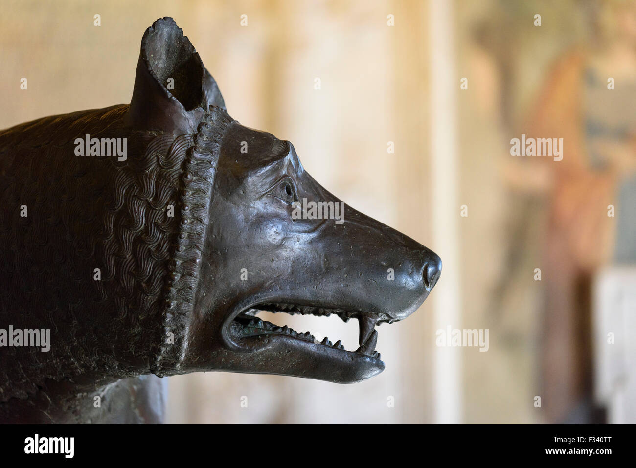 Rome. Italy. Capitoline Museum. The She-Wolf. - Stock Image