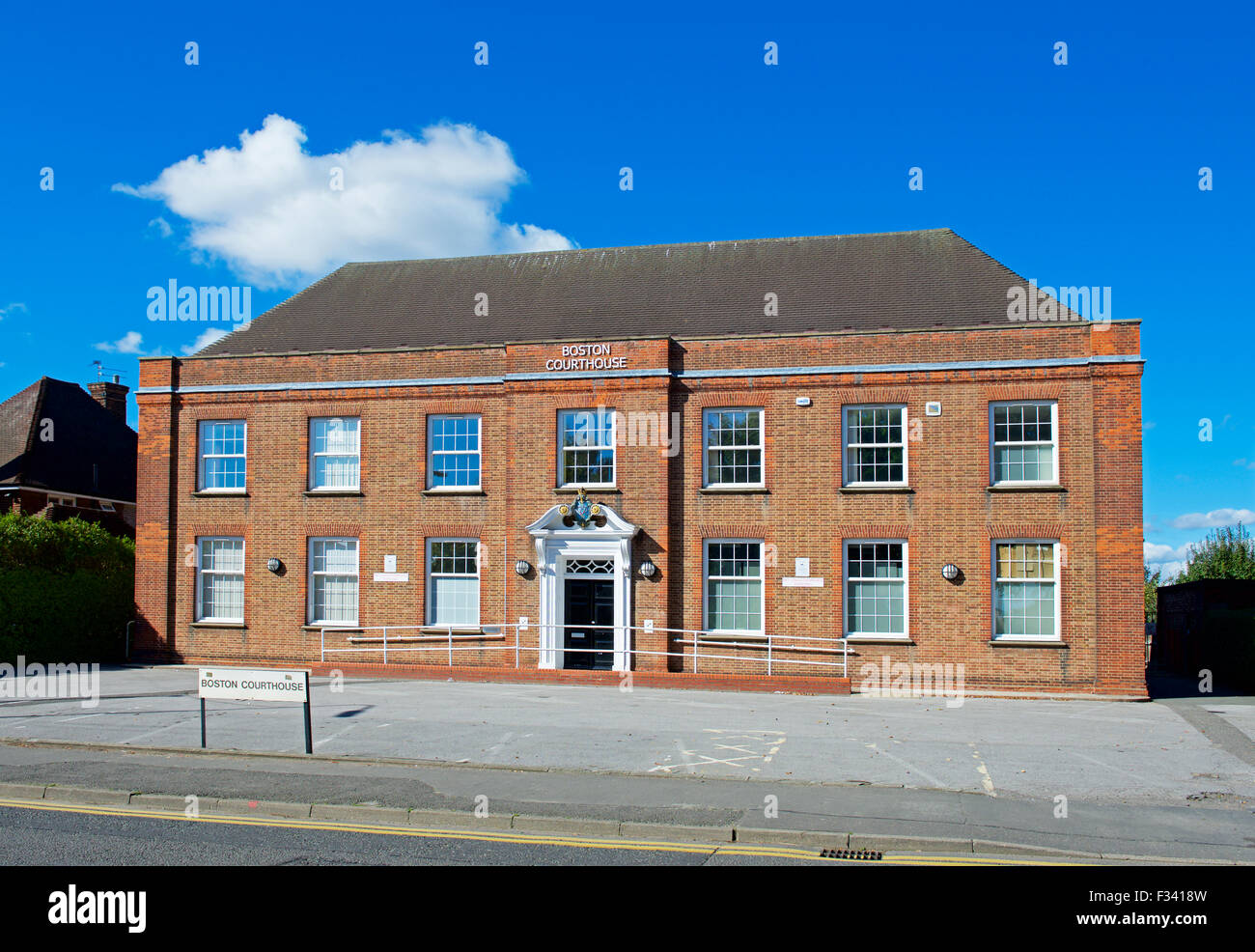 The Courthouse, Boston, Lincolnshire, England UK - Stock Image