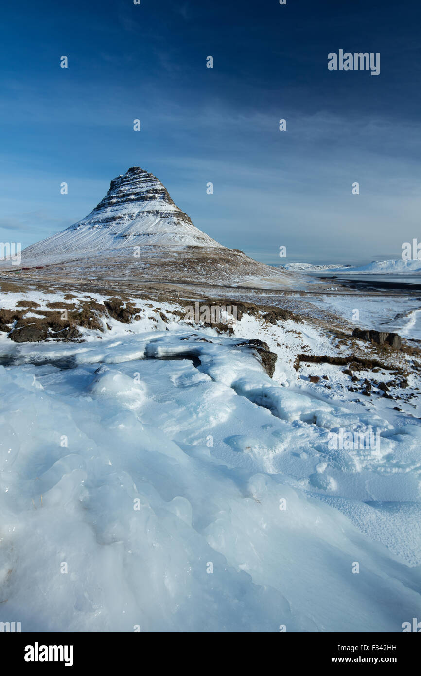 Kirkjufell, Snaefellsness Peninsula, Iceland - Stock Image