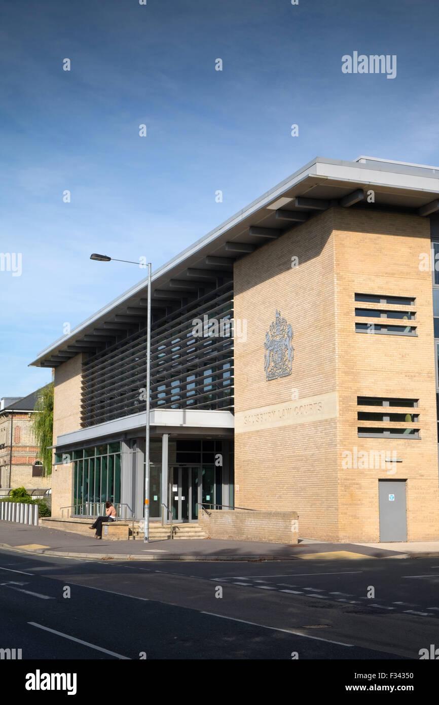 Salisbury Law Courts incorporating Salisbury Crown Court and Salisbury Magistrates Court, Salisbury, Wiltshire, - Stock Image