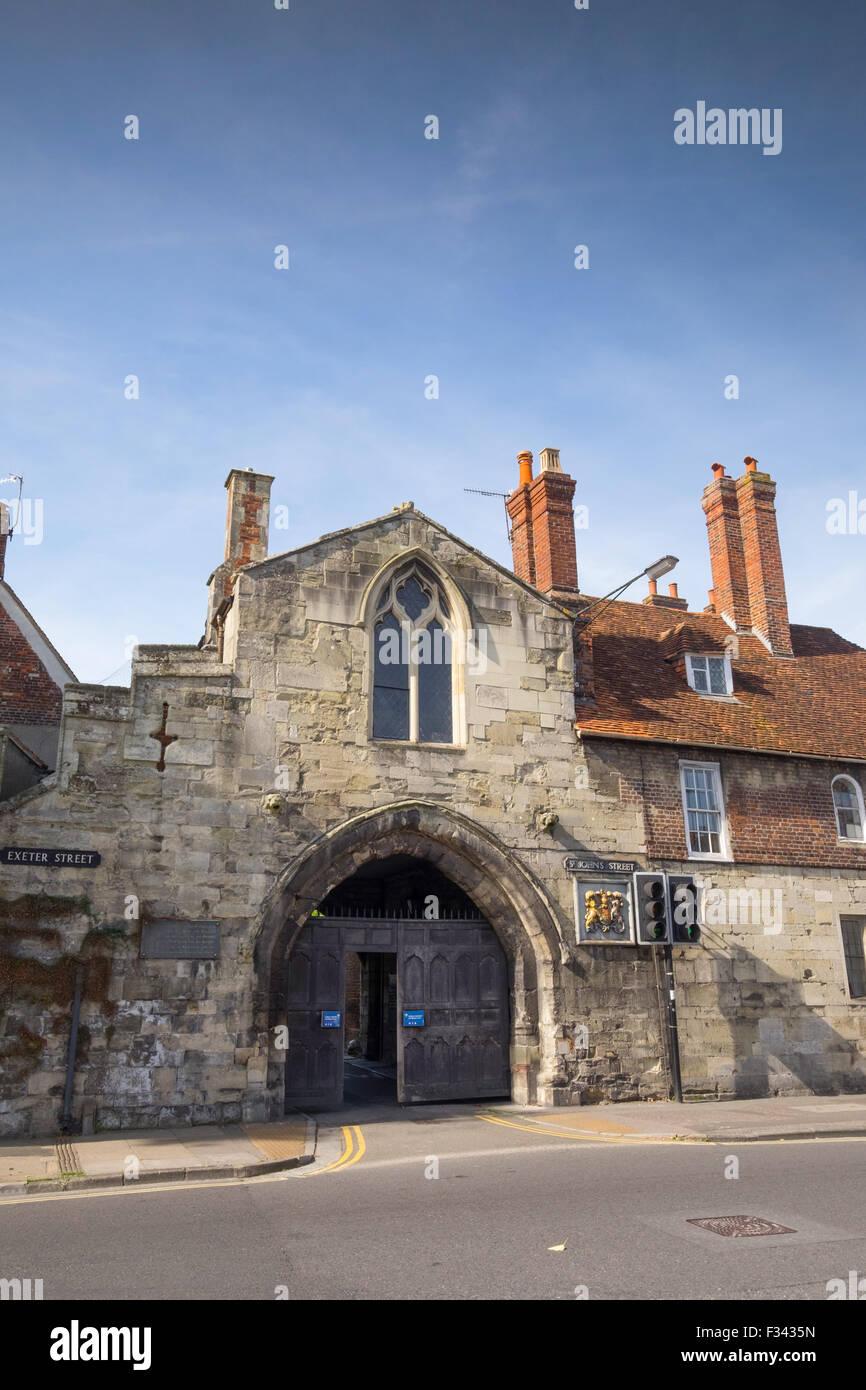 St Ann's Gate in Salisbury, Wiltshire, UK - Stock Image