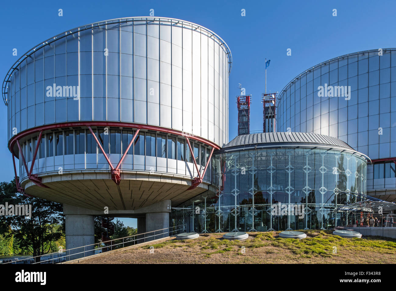 Building of the European Court of Human Rights / ECtHR at Strasbourg, France - Stock Image