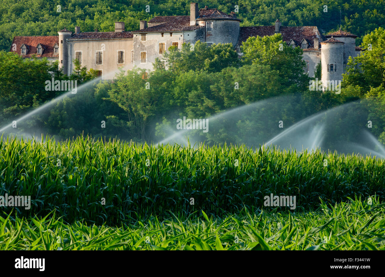Chateau Arcambal, nr Cahors, Lot Valley, Quercy, France - Stock Image
