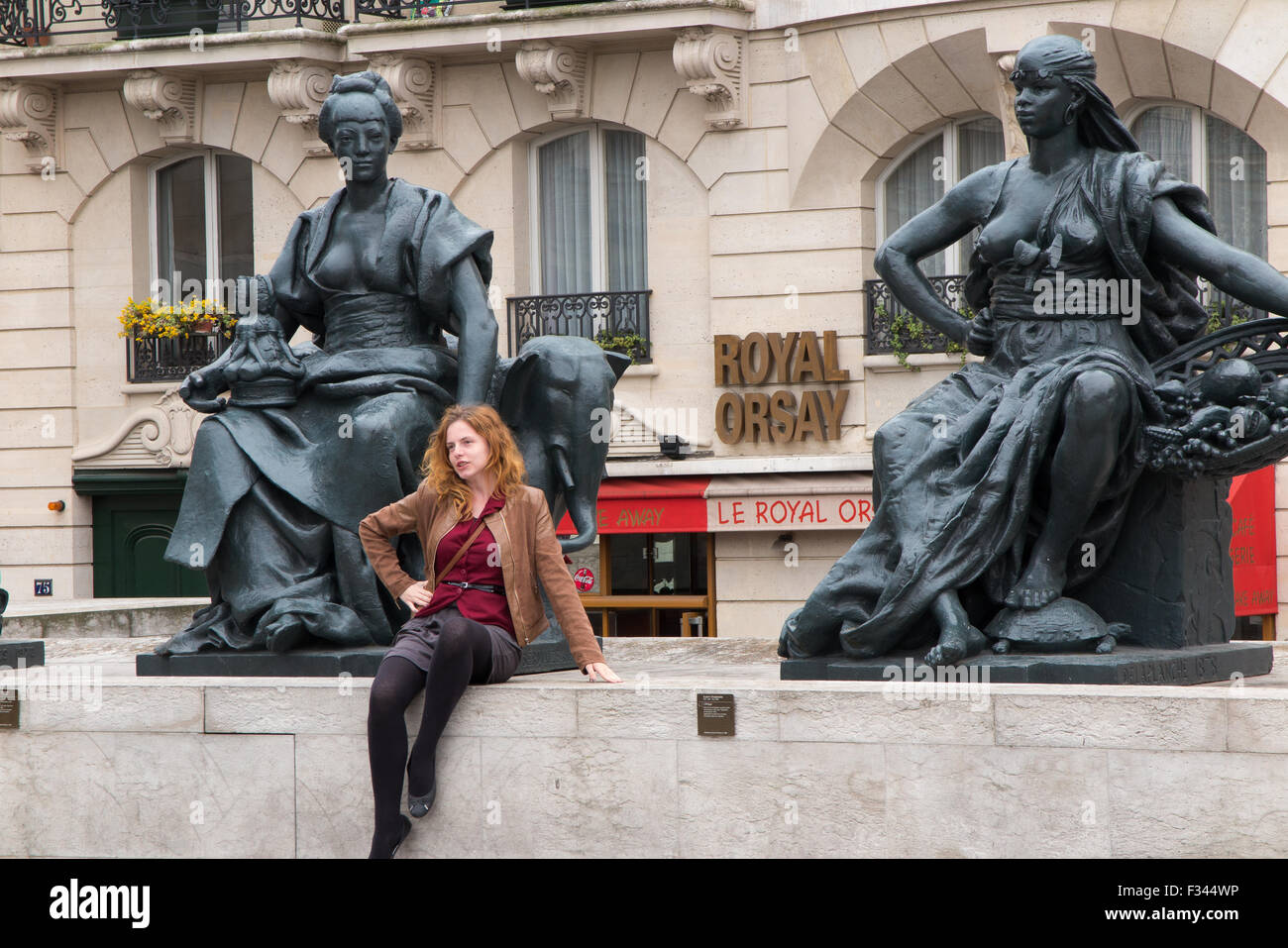 outside the Musee d'Orsay, Paris, France - Stock Image