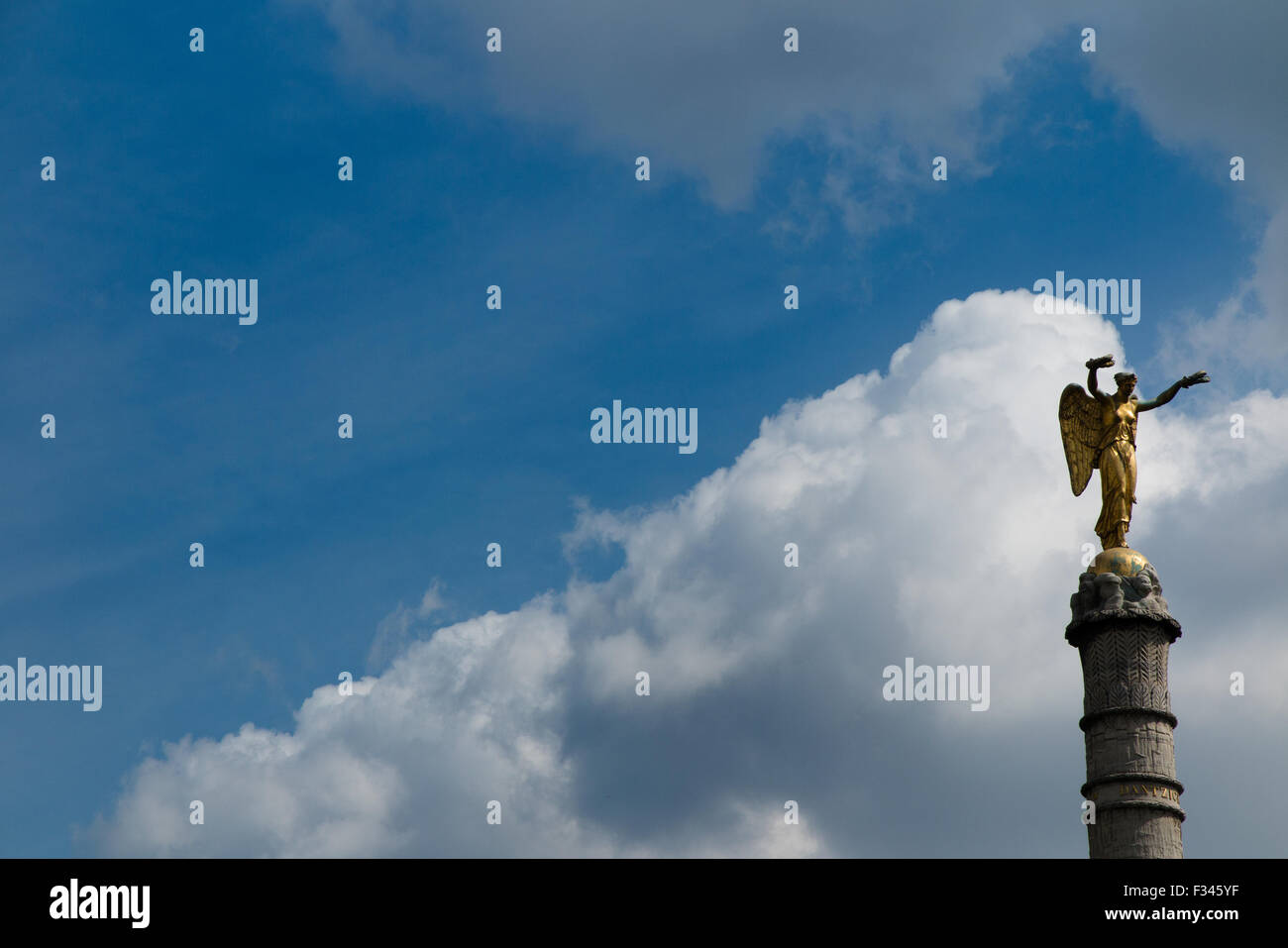 statue on column, Place de la Bastille, Paris, France - Stock Image
