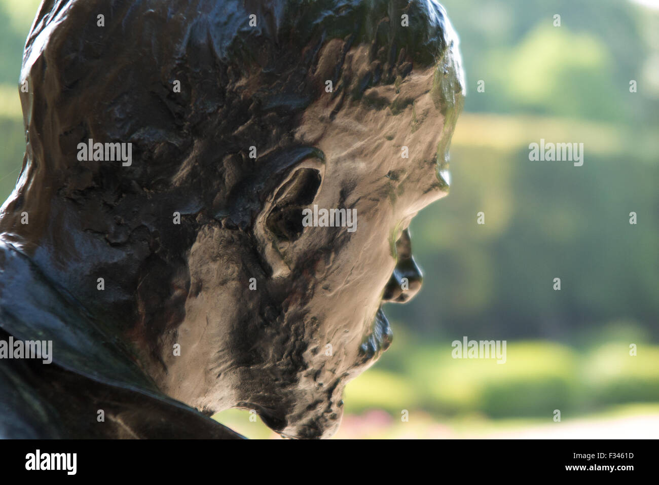 statue, Musee Rodin, Paris, France - Stock Image