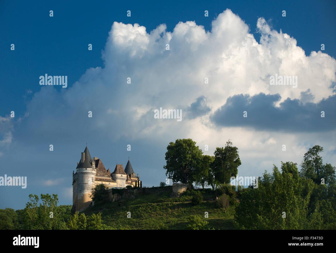 Chateau de Bayac, Pays de Bergerac, Périgord, Dordogne, Aquitaine, France - Stock Image