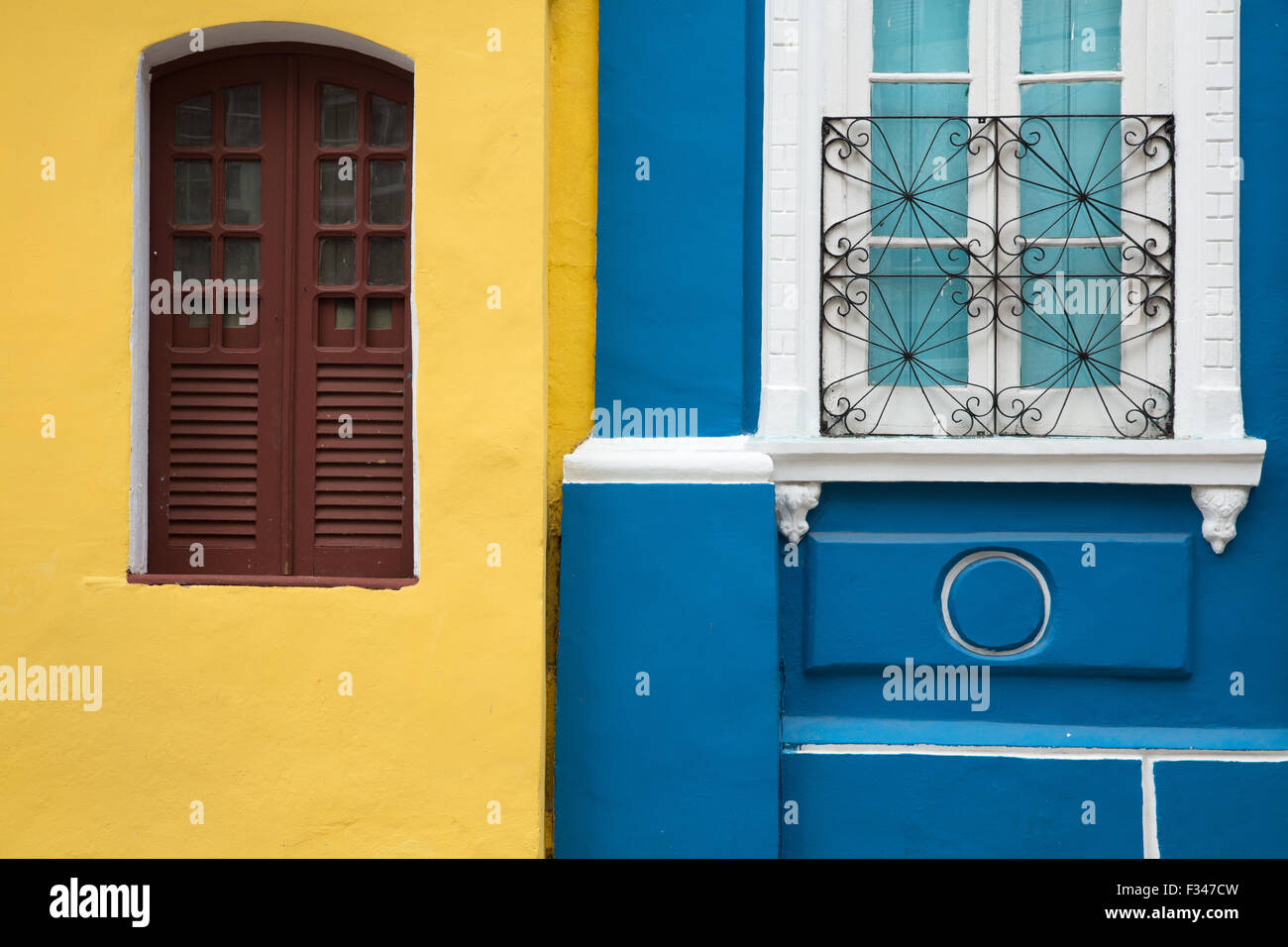 colonial architecture in the Old Town, Salvador da Bahia, Brazil - Stock Image