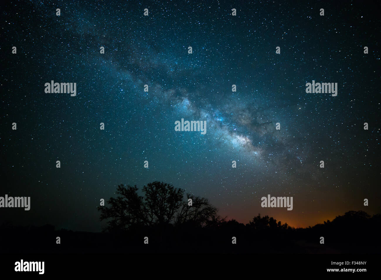 Wide angle shot of the milky way core - Stock Image