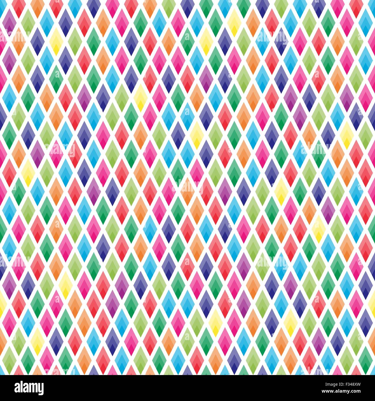 Seamless background of colorful lozenges on white - Stock Vector