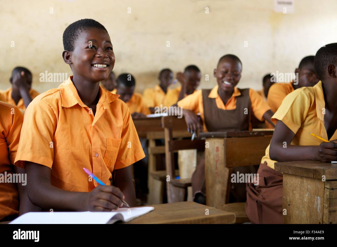 A student at a school in Talensi Nabdam, Ghana Africa. - Stock Image