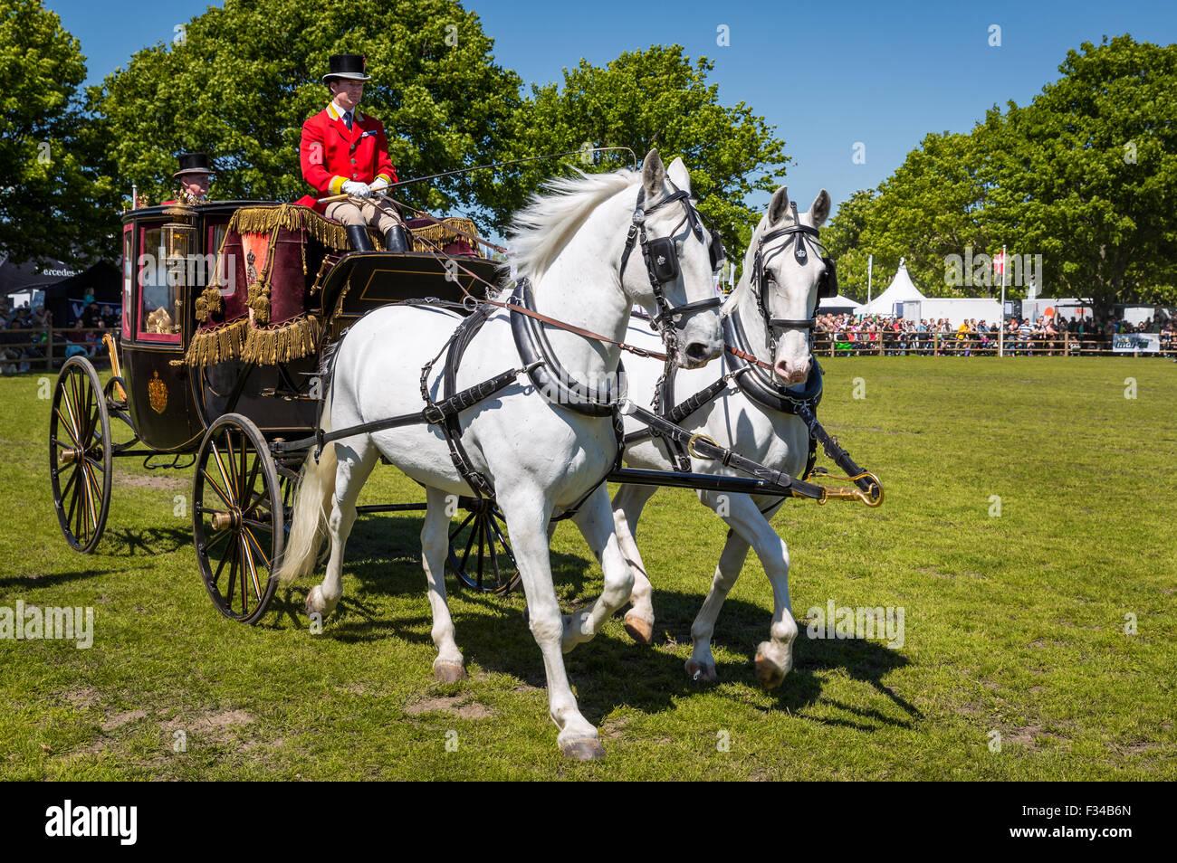 The Royal Coach, Roskilde Denmark - Stock Image