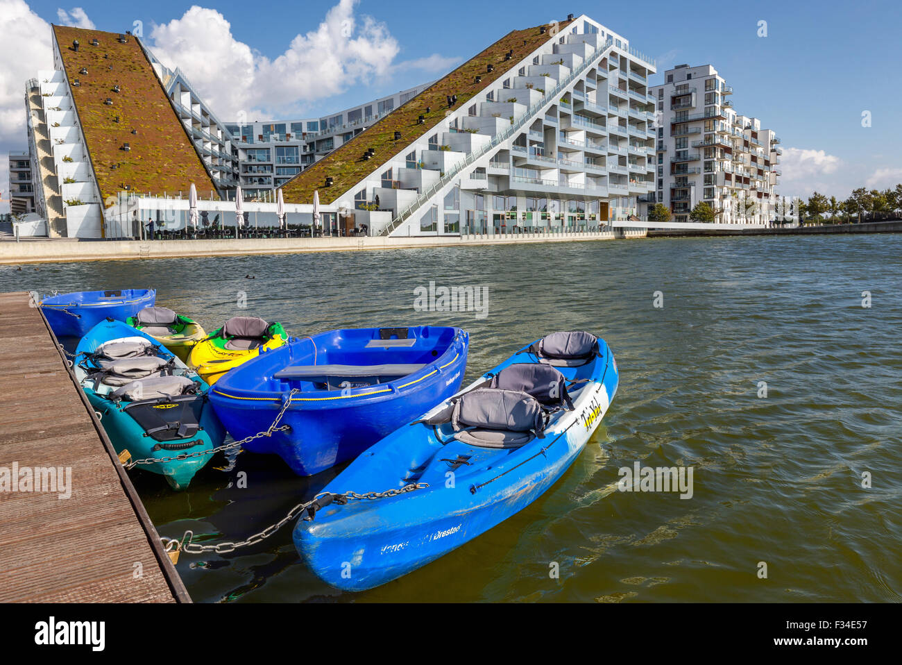 8 House, also known as 8 Tallet or Big House, architect Bjarke Ingels, 2011 prize for best building in the world, Stock Photo
