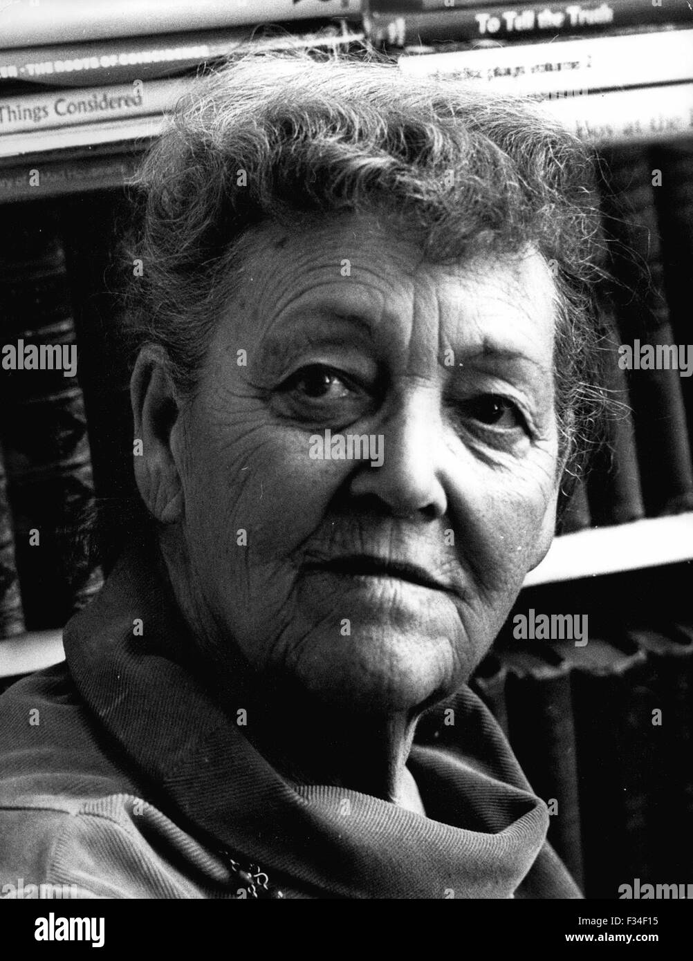 Dec. 29, 1976 - New Sprigge Biography. A Life-Long friendship with Dame Ivy Compton-Burnet is the subject of a new - Stock Image