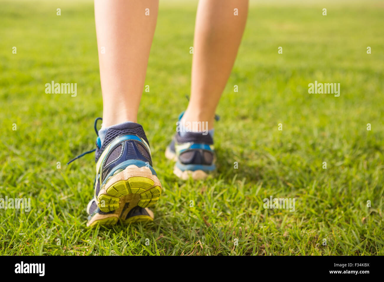 Close up view of female runners feet - Stock Image