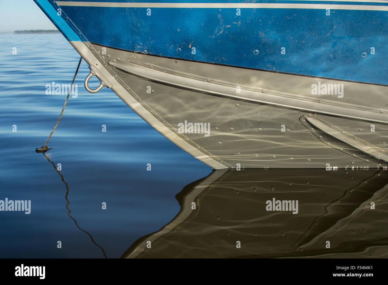 Painted Aluminum Boat Stock Photos Painted Aluminum Boat
