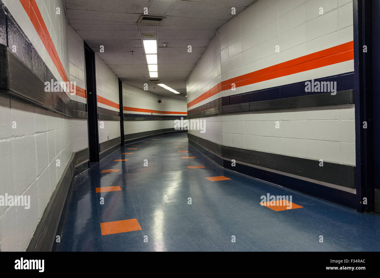 Nassau Coliseum hallway below level - Stock Image