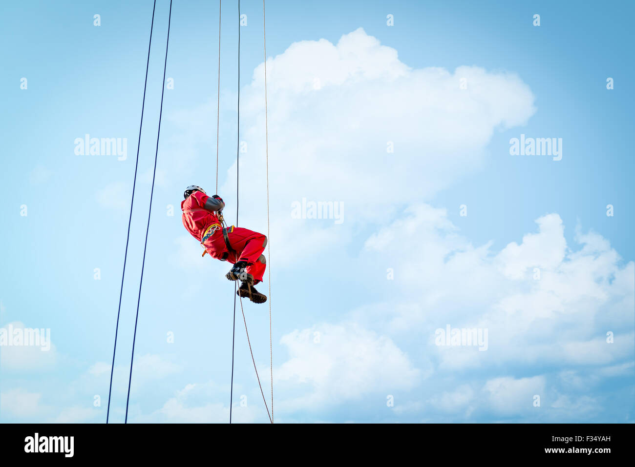 Height rescue squad of firebrigade - Stock Image
