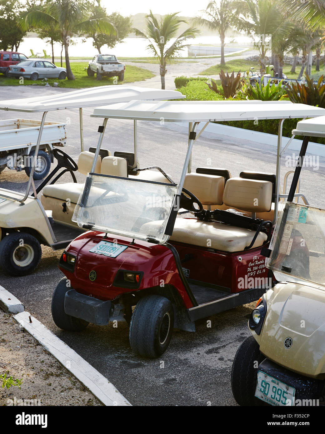Golf Cart in the Bahamas - Stock Image