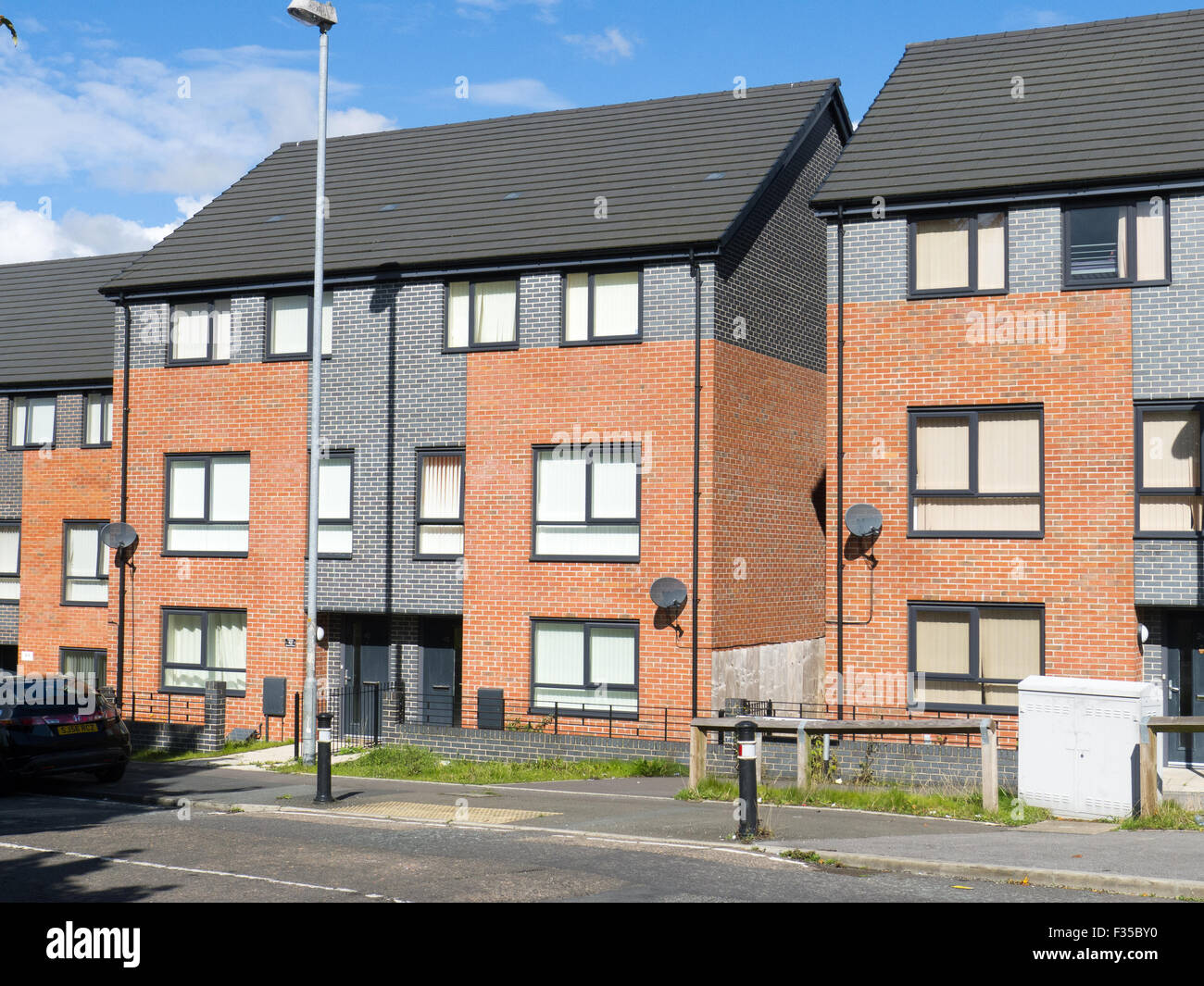 Newly built local authority housing - Stock Image