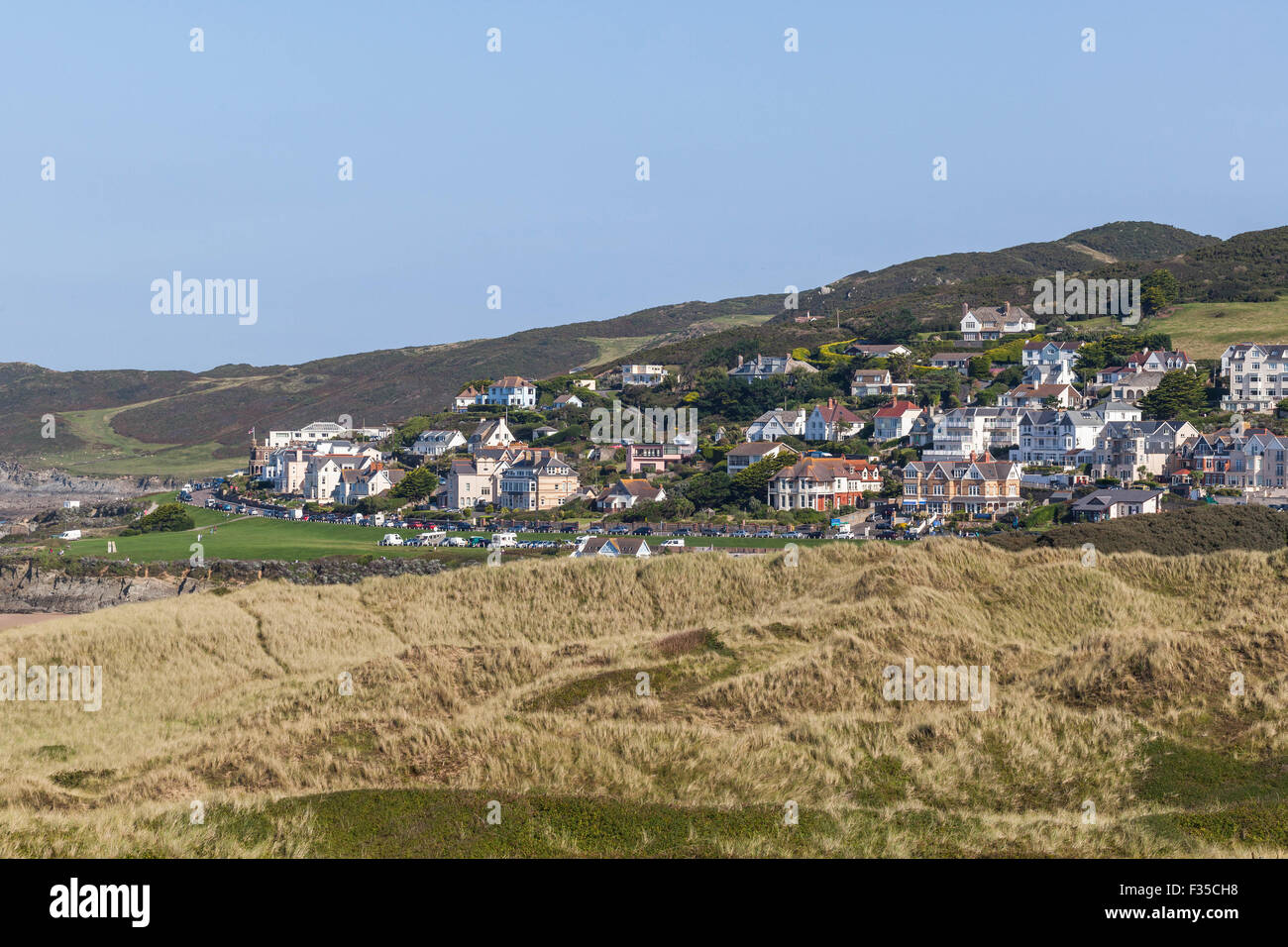 The village of Morthoe, North Devon, West Country, England, UK - Stock Image