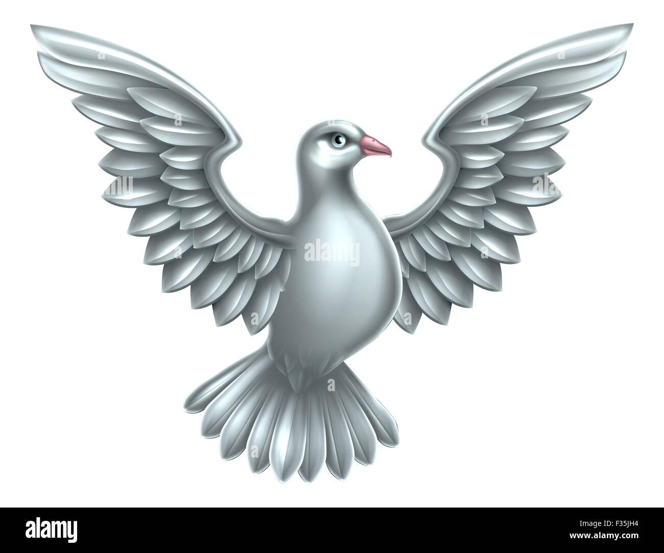 A White Dove A Symbol Of Peace Faith Or Hope Stock Photo 88020160