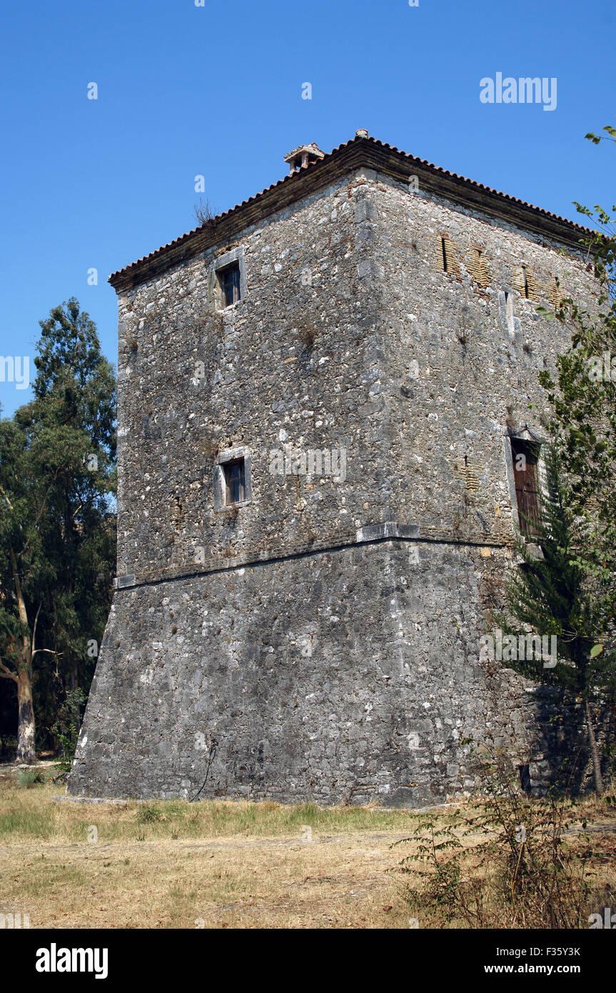 Albania. Buthrotum. Venetian tower. 15th-16th centuries. - Stock Image