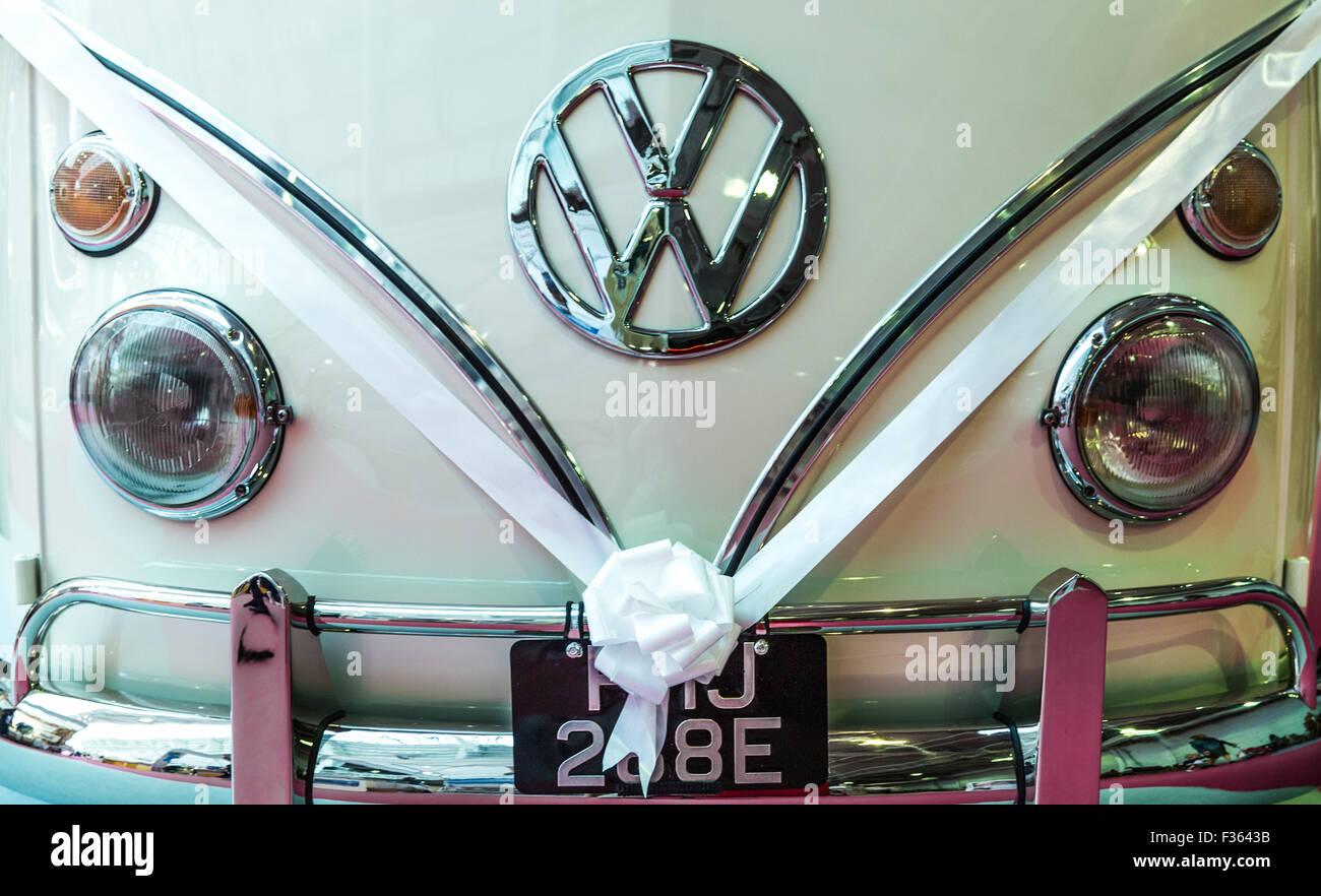 VW Van wedding car - Stock Image