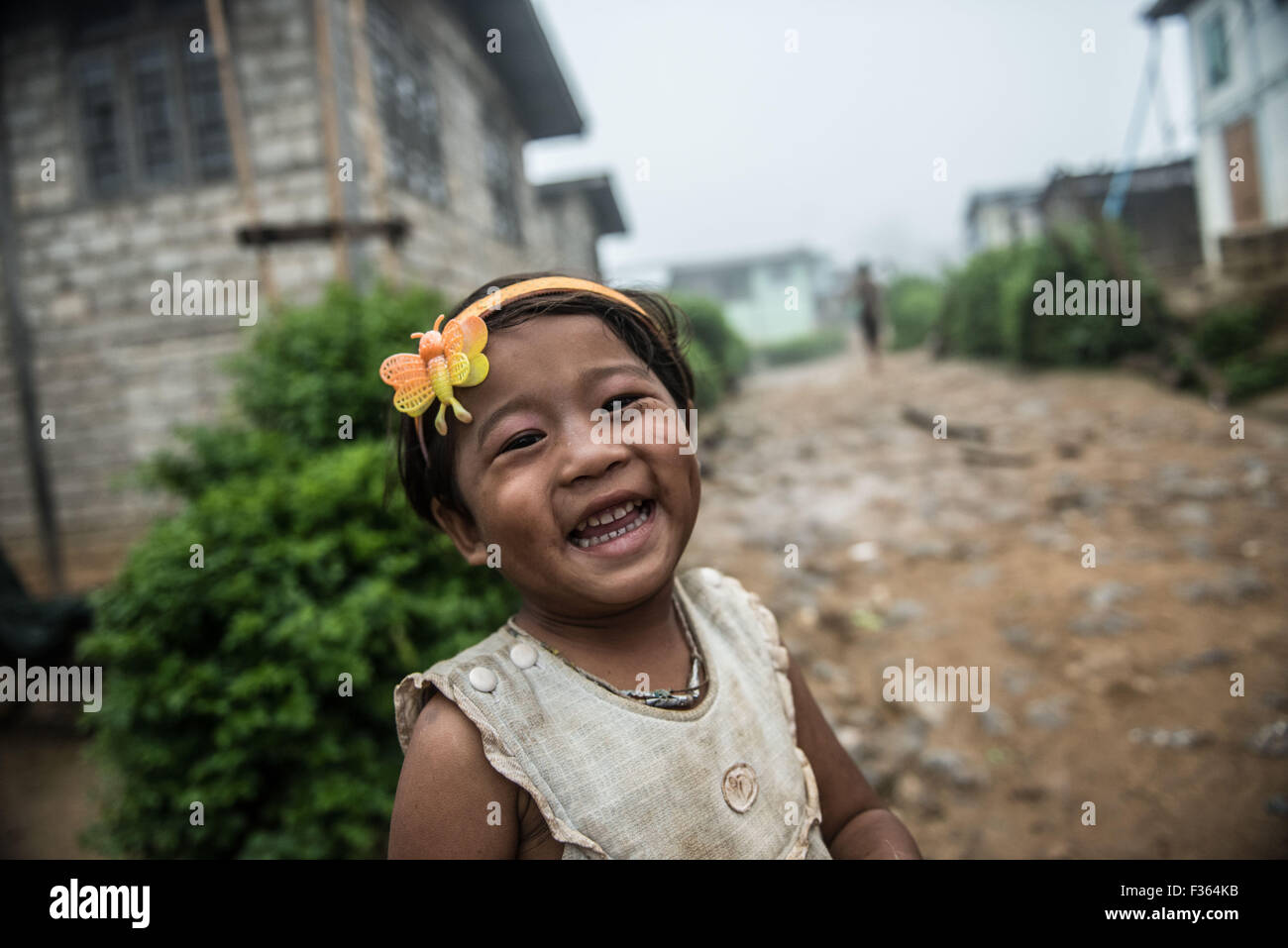 Street scene in small village near Kalaw, Shan State, Myanmar Stock Photo