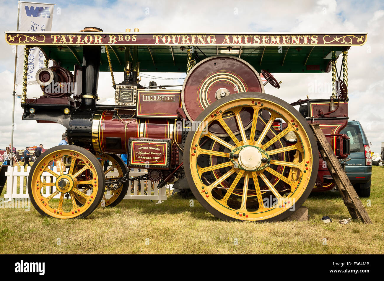 Restored Burrell Showman's engine older than 100 years in uk - Stock Image