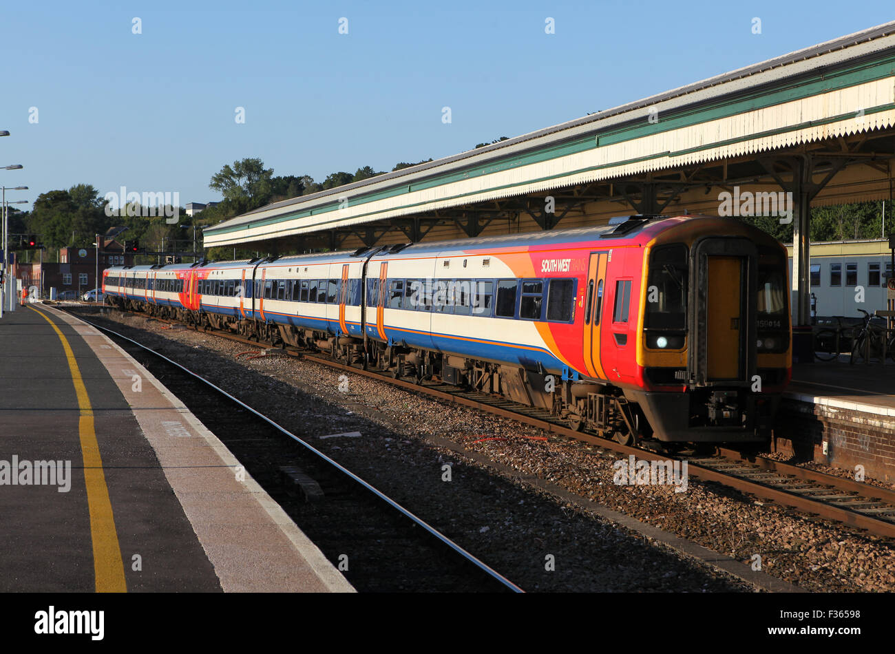 South West Trains class 159 DMUs at Exeter St Davids - Stock Image