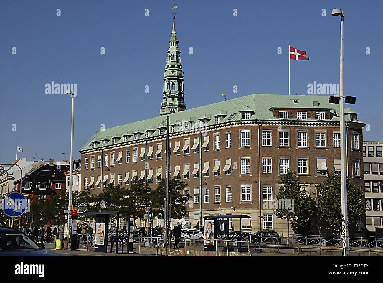 Copenhagen, Denmark. 30th September, 2015. Office of former and new minister for defence at ministry of defence - Stock Image