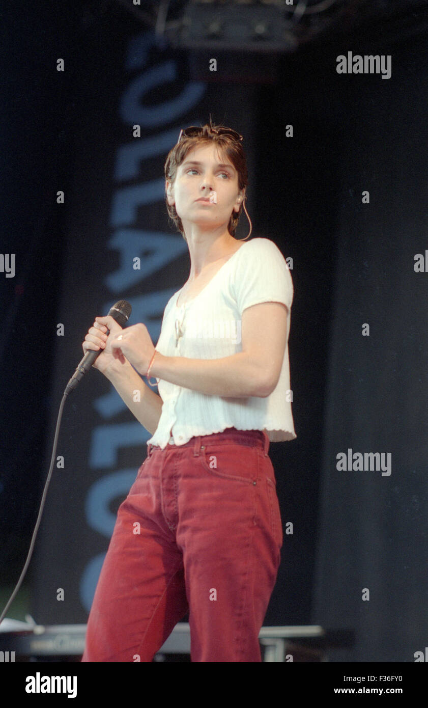Sinead OConnor performs during the 1995 Lollapalooza concert at Deer Creek Music Center in Noblesville, Indiana. - Stock Image
