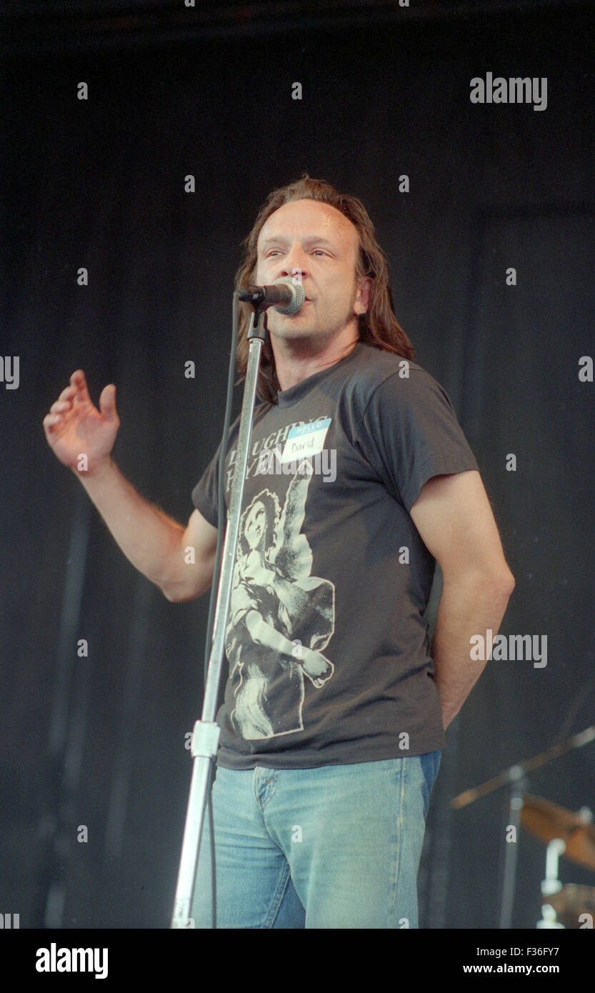 David Yow, of the Jesus Lizard, performs during the 1995 Lollapalooza concert at Deer Creek Music Center in Noblesville, - Stock Image