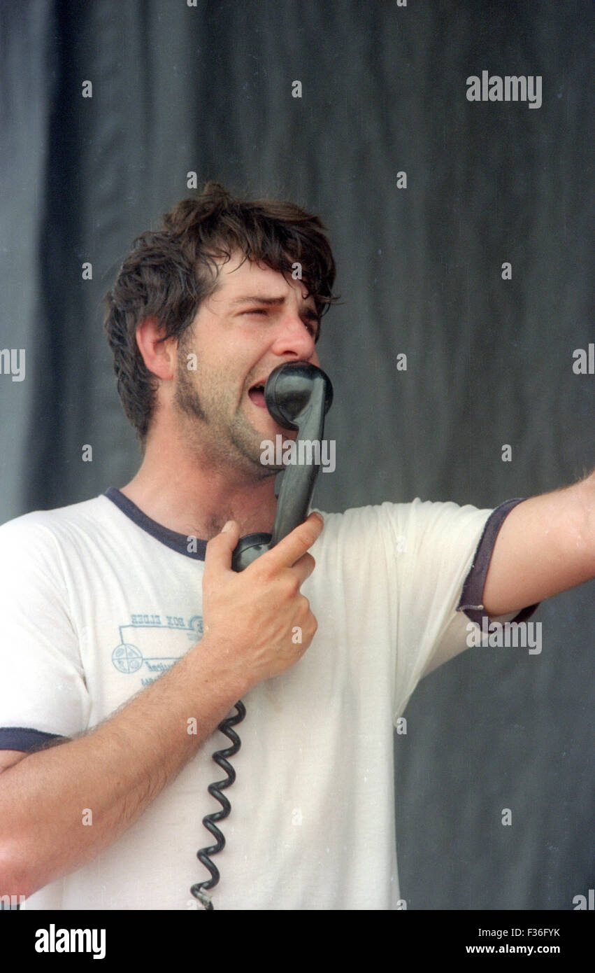 Thermos Malling, of the band Doorag, performs during the 1995 Lollapalooza concert at Deer Creek Music Center in - Stock Image