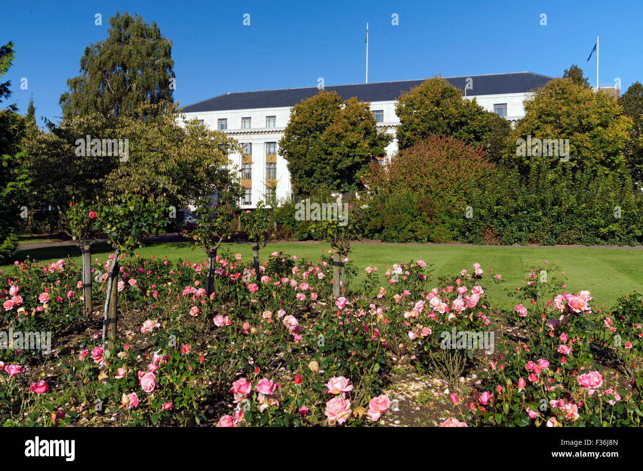 Welsh Office building, Cathays Park Cardiff taken from Alexandra ...