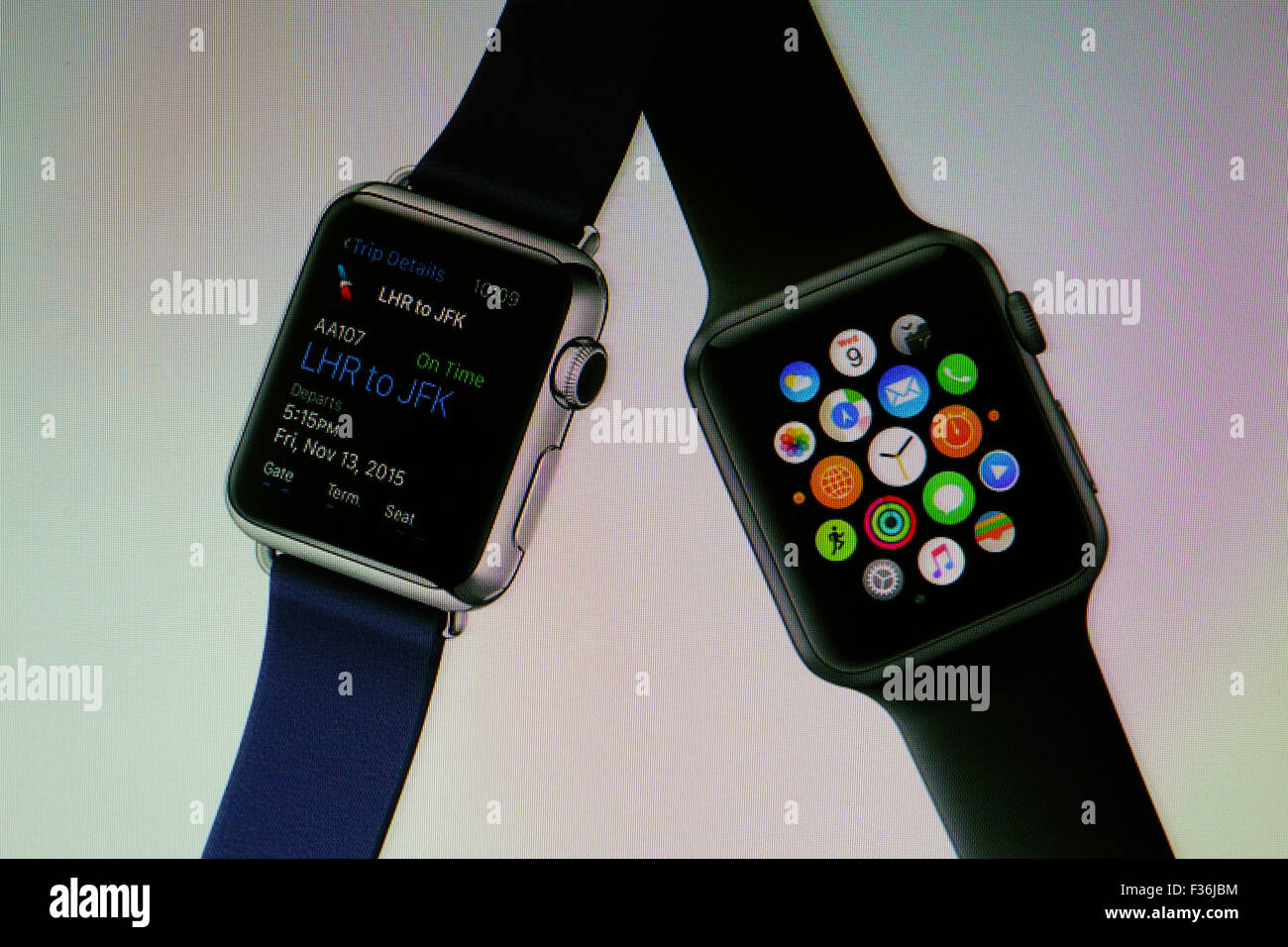 Apple,watches,wearable,technology,gadget,Apps - Stock Image
