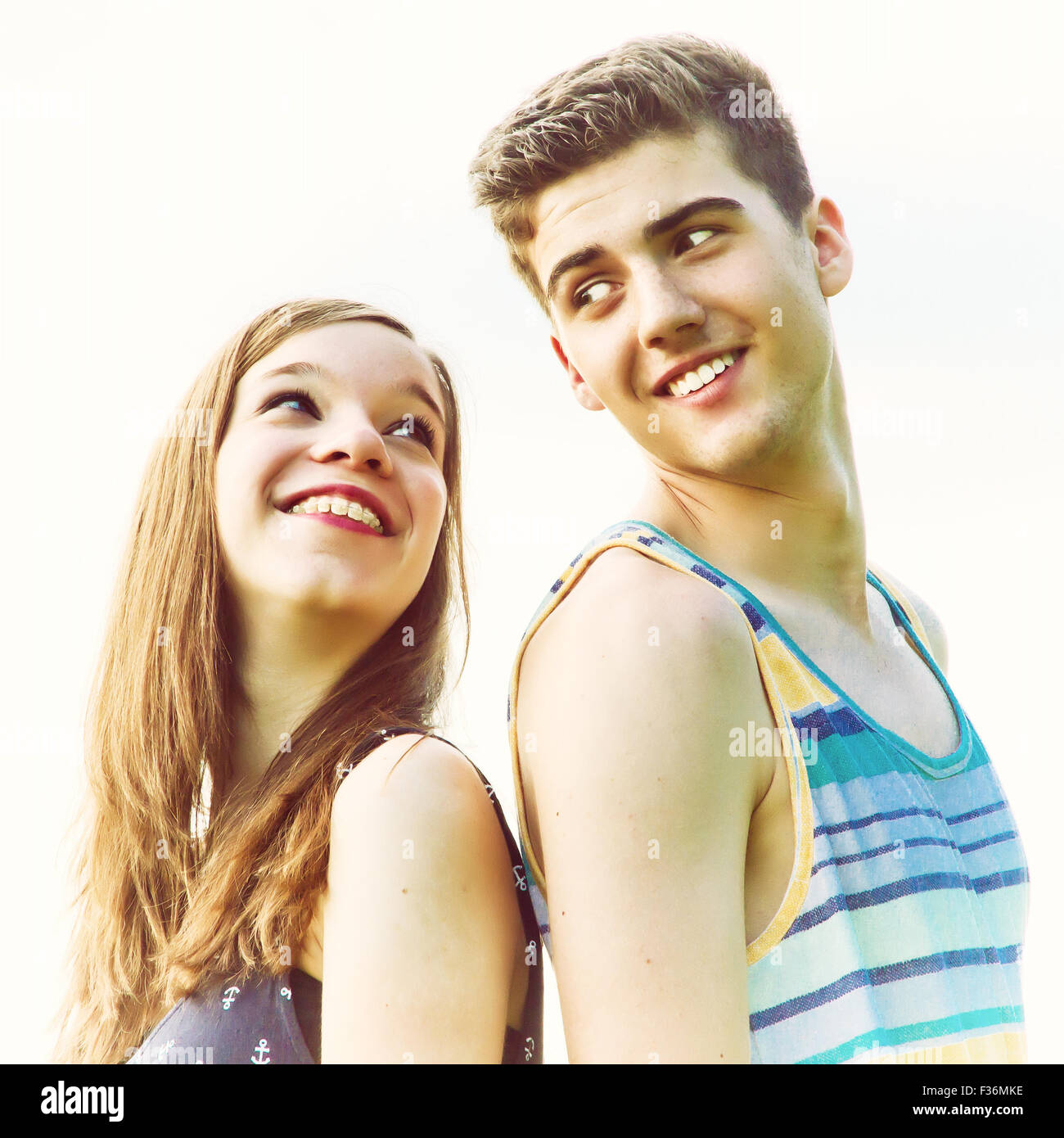 Young, happy couple - Stock Image