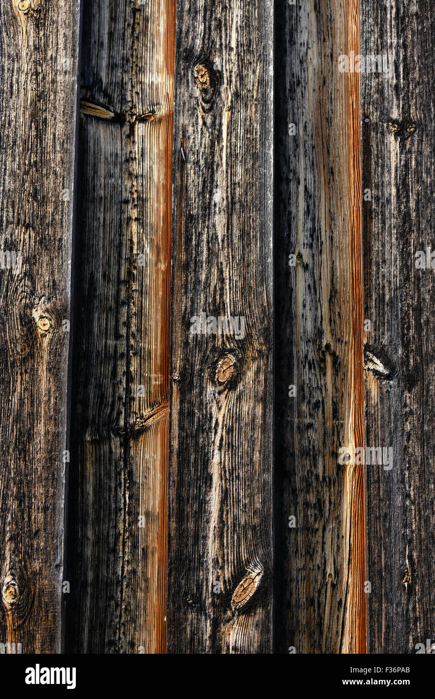 Old Barn Wood Wall Background Texture - Stock Image
