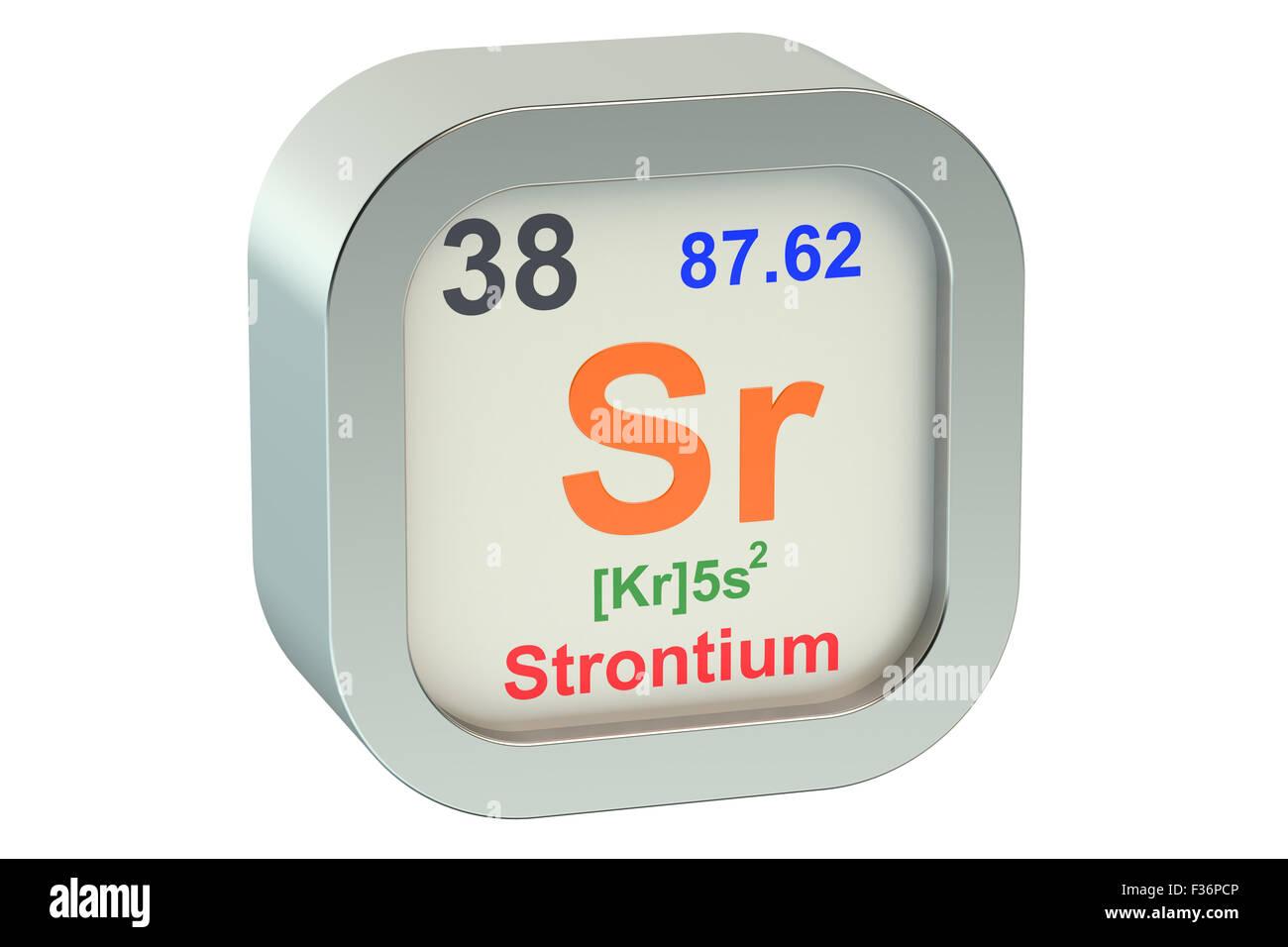 Chemical Symbol Sr Stock Photos Chemical Symbol Sr Stock Images