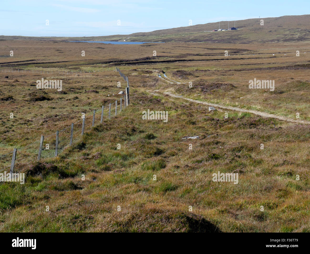Moorland, North Uist, Hebrides, September 2015 - Stock Image